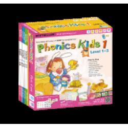 Phonics Kids Set 1 (Level 1-3)(6 Books+ 3DVD + 3CD)